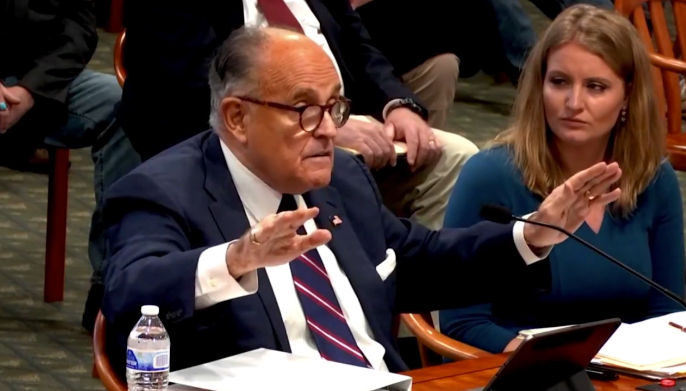 Irate Giuliani: They Stole The Election!