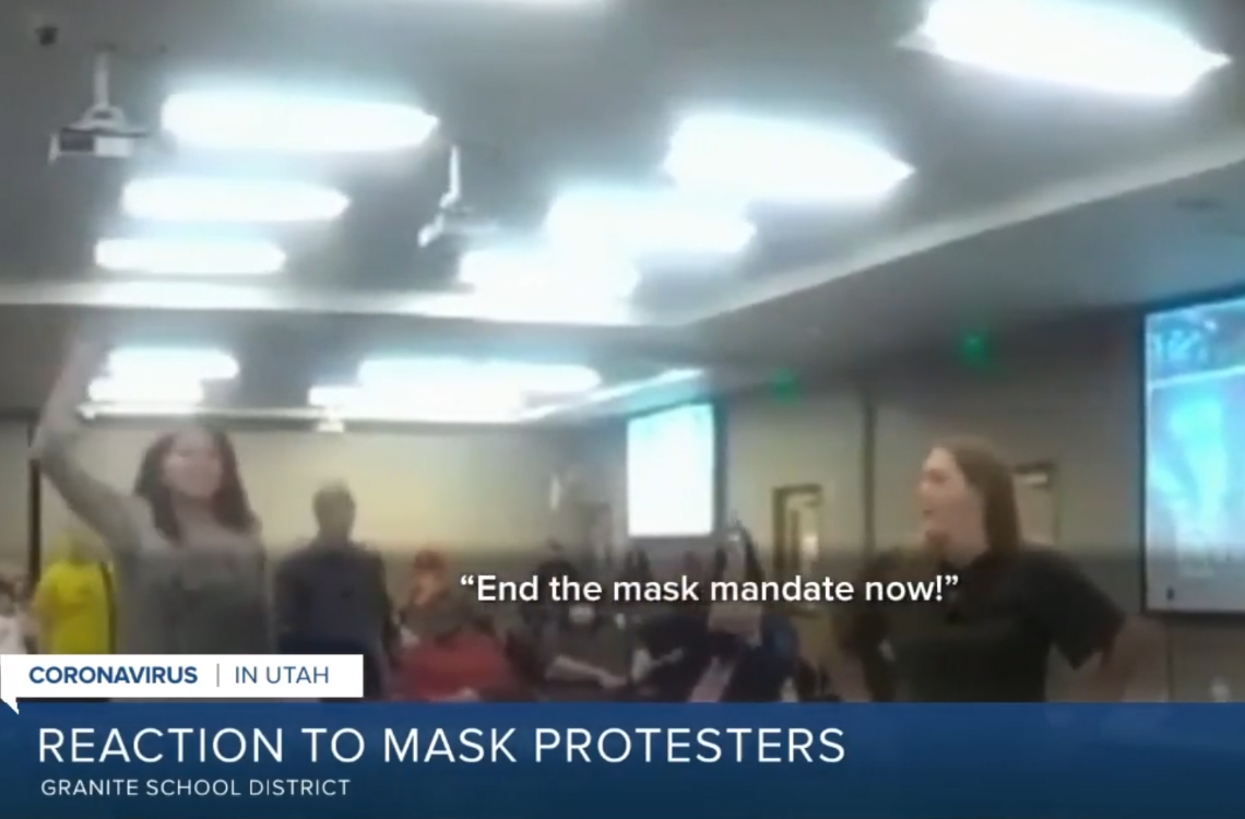 Utah Parents Erupt Against Masks