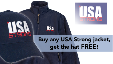 USA Strong Jacket W FREE HAT
