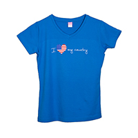I Love My Country Women's V-Neck T-Shirt