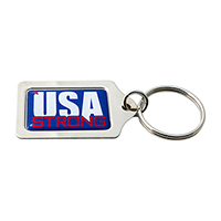 USA Strong Silver Keychain