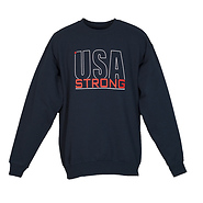 USA Strong Men's Crewneck Sweatshirt