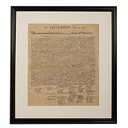 Declaration of Independence Framed Historical Parchment