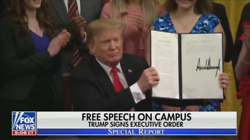 Networks Ignore Trump's Executive Order Protecting Free Speech on Campuses