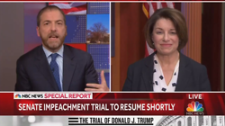 NBC & ABC Urge Klobuchar to Pressure GOP on Impeachment