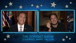 Jimmy Fallon Slobbers Over Andrew Cuomo