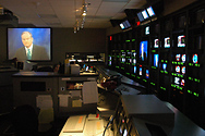 A view from the control room.  Two or three of our New York-sized control rooms could fit in here!