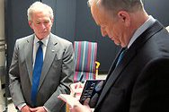 Bill interviews Pres. George W. Bush in Texas.