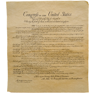 Bill of Rights Historical Document