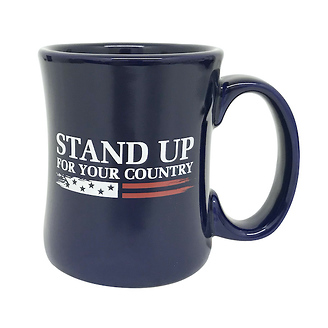 Stand Up For Your Country Diner Coffee Mug