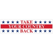 Take Your Country Back Bumper Sticker - Pack of 5 stickers