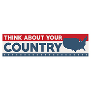 Think About Your Country Bumper Sticker - Pack of 5 stickers