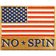 No Spin Lapel Pin - free