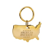 American Patriot USA Shaped Keychain - free