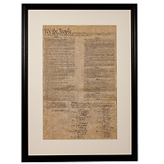 United States Constitution Framed Historical Document