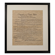 Bill of Rights Framed Historical Parchment
