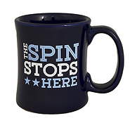 The Spin Stops Here Diner Coffee Mug